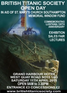British Titanic Society convention 2015 poster