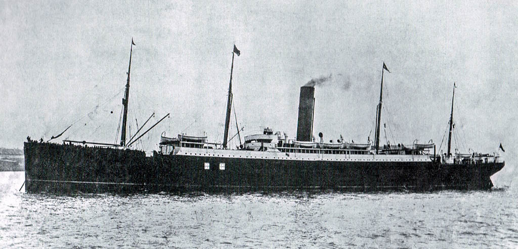The Carpathia at sea