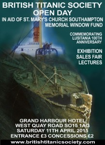 Poster advertising the British Titanic Society Convention 2015