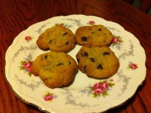 plate of chocolate chip cookies - because I'm a bit silly :)
