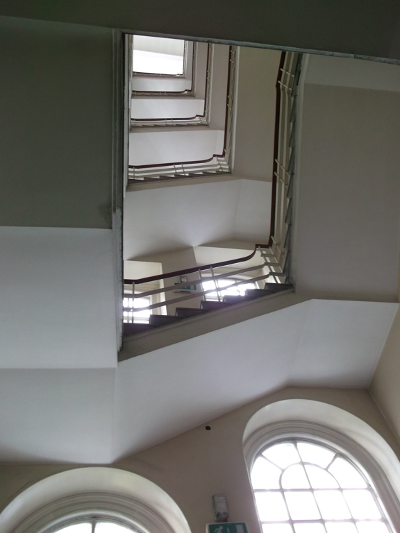 View from bottom of stairwell