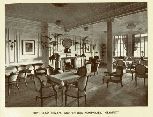 RMS Olympic First Class reading and writing room