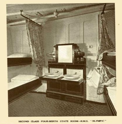 RMS Olympic's four berth state room