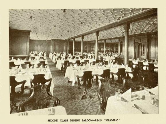 RMS Olympic's Second class dining saloon