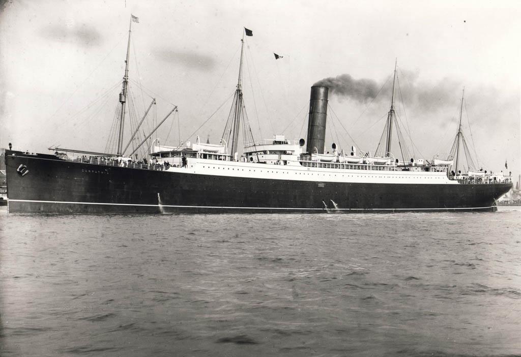 Black and white image of the Carpathia