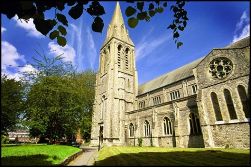 Colour image of St. Mary's Parish Church in Southampton