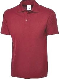 BTS polo shirt in maroon colour
